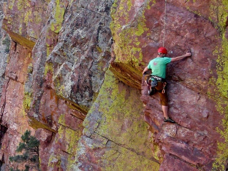 Rock Climbing Photo: Lower down on the first pitch.