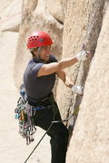 Rock Climbing Photo: Lisa Pritchett on Right V Crack 5.10b