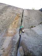 Rock Climbing Photo: Darko leading Enema, Clint Cummins photo