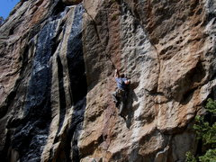 Rock Climbing Photo: The crux.