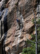 Rock Climbing Photo: Keith on the undercling which marks the end O' the...