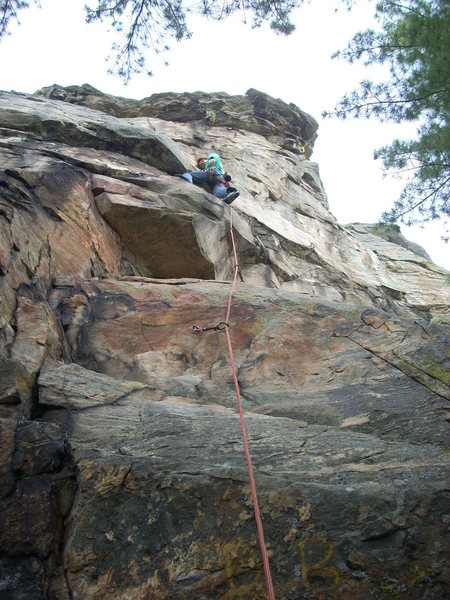 Rock Climbing Photo: Rhoads right before the crux.