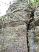 Rock Climbing Photo: Face left of crack.