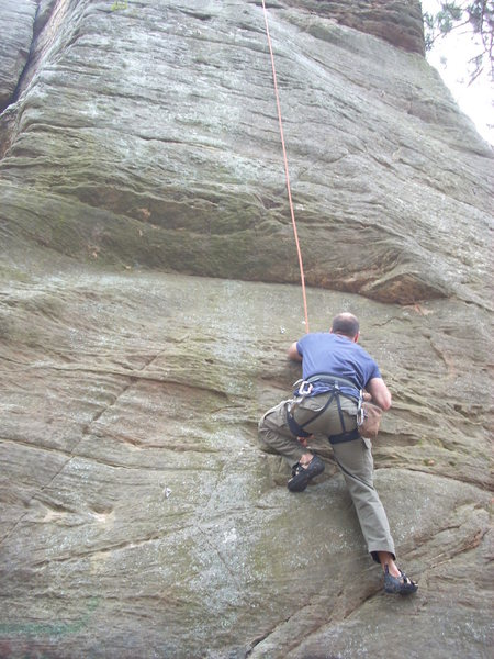 Rock Climbing Photo: Mike on TR.