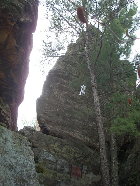 Rock Climbing Photo: More around the corner from the bolted routes. Pot...