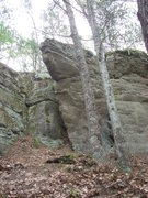 Rock Climbing Photo: Bouldering potential on the very north side of the...