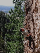 Rock Climbing Photo: Colin Cox, midcrux on Coldsnap