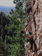 Rock Climbing Photo: Colin Cox, midcrux on Coldsnap