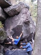 Rock Climbing Photo: Melin giving it a burn.