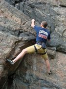 Rock Climbing Photo: Ryan Malarky setting up for the second clip on Tur...