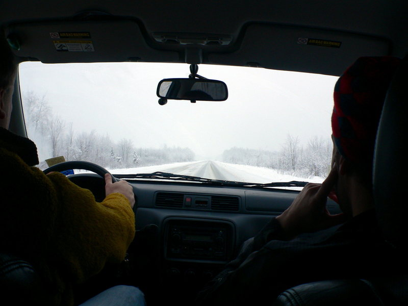 driving up north to swing some tools