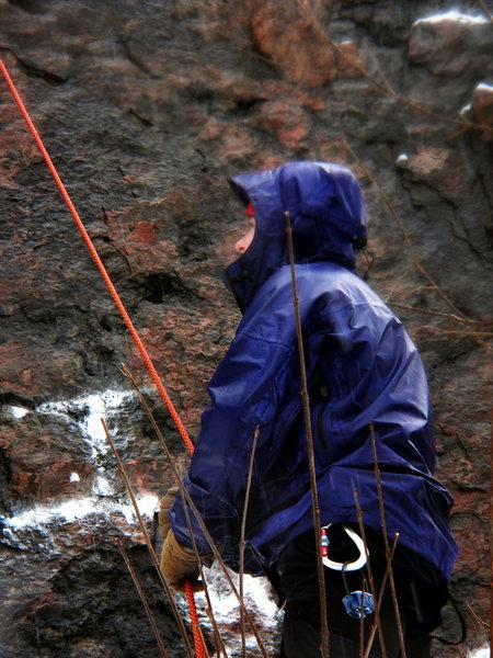 belaying in the rain, in feb?