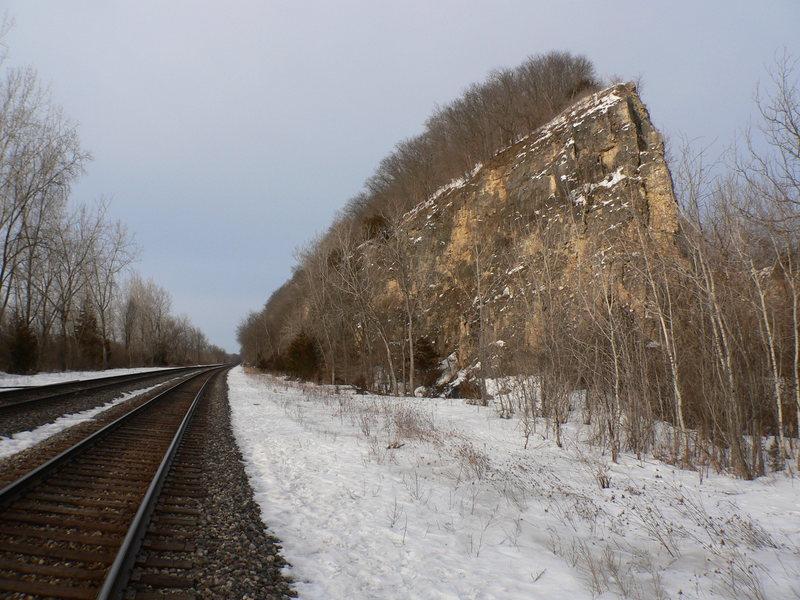 heading down the tracks