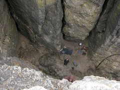 Rock Climbing Photo: looking down into the quad(sentinel area)