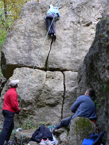 Rock Climbing Photo: Difficult Crack
