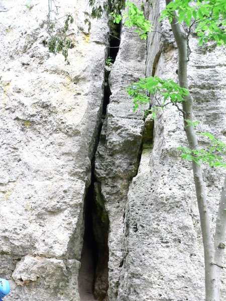 Rock Climbing Photo: 1st crack (5.6)