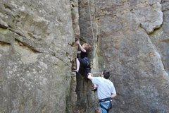 Rock Climbing Photo: Gabe on Jenna s Chimney