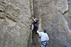 Rock Climbing Photo: Gabe on Jenna's Chimney
