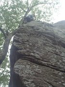 Rock Climbing Photo: John on Gregs Chicken Shack