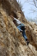Rock Climbing Photo: Me on lower part of Pigeon Paranoia