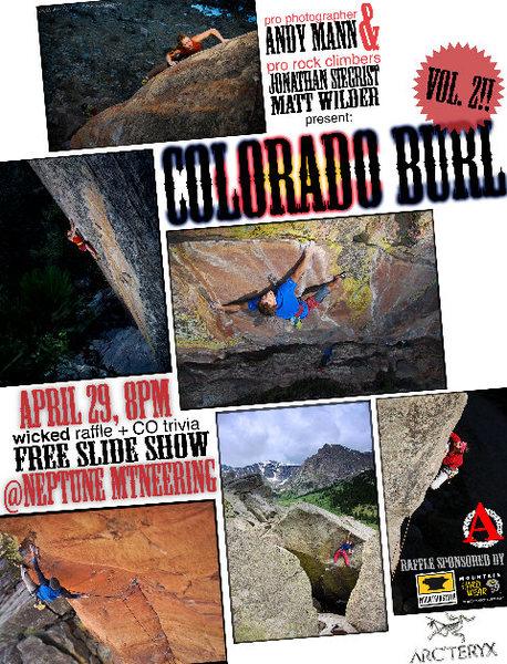 Colorado Burl poster.
