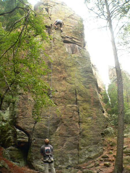 Rock Climbing Photo: tr'ing tower route