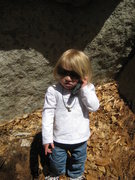Rock Climbing Photo: Just clled mommy because she fell and scraped her ...