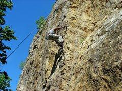 Rock Climbing Photo: Shantan on Kelly's Arete, early 2004.