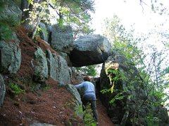 Rock Climbing Photo: Jay, hiking around Necedah, 2004-ish.