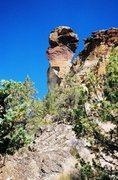 Rock Climbing Photo: Monkey Face, Summer 2003.  Couple climbers going u...
