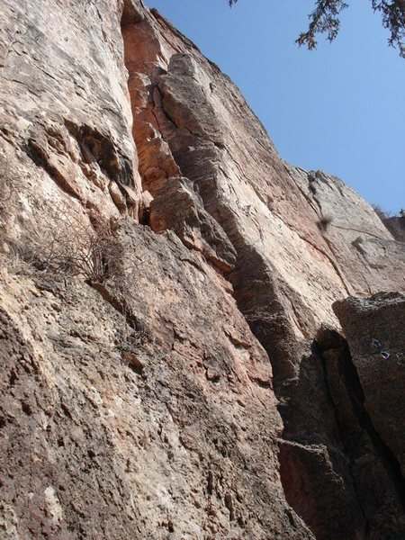Rock Climbing Photo: A softball size chunk blew up in my hand on this r...