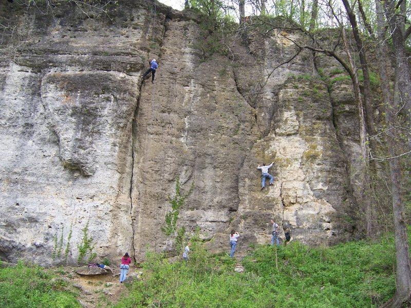 main climbing area at Backbone