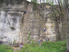 Rock Climbing Photo: main climbing area at Backbone
