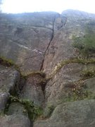 Rock Climbing Photo: This is post crux but shows the identifying part o...