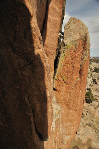 Rock Climbing Photo: Chimney climbing at its best.