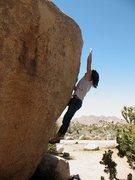 Rock Climbing Photo: Joel launching up Flight Attendant (V4), Joshua Tr...