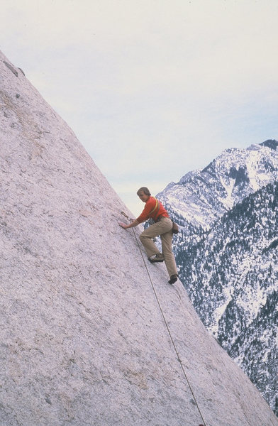 Rock Climbing Photo: Mark Rolofsen leading the first pitch.