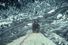 Rock Climbing Photo: Mark, following up high