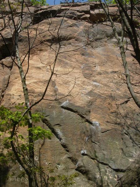 Rock Climbing Photo: Kalahári Fal at Ezüsthegy.