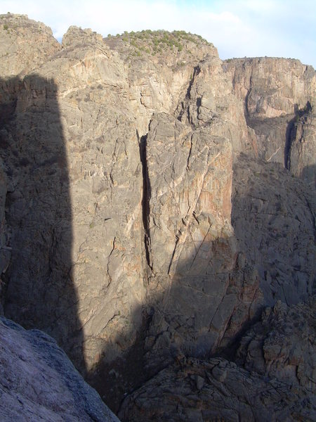 Rock Climbing Photo: Evening light from high on North Chasm View Wall.