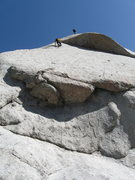 Rock Climbing Photo: Perin belays Lee on P1. Lee is about to make the t...