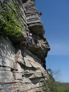 Rock Climbing Photo: I'm leading Shockley's as the last pitch of a Stri...