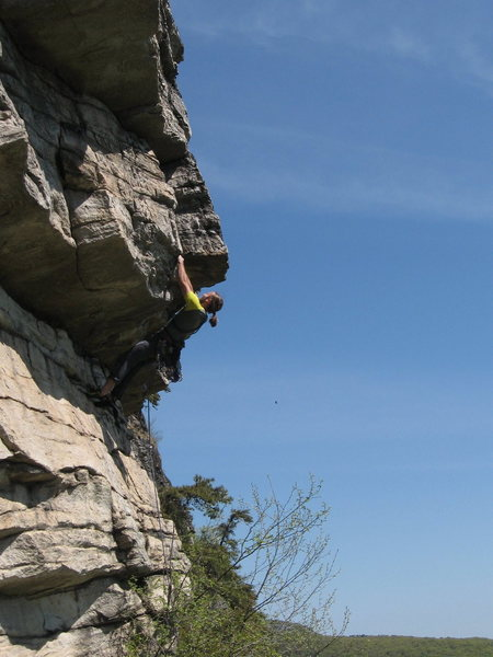 Rock Climbing Photo: Unknown climber pulled the roof on Grim-Face Ace. ...