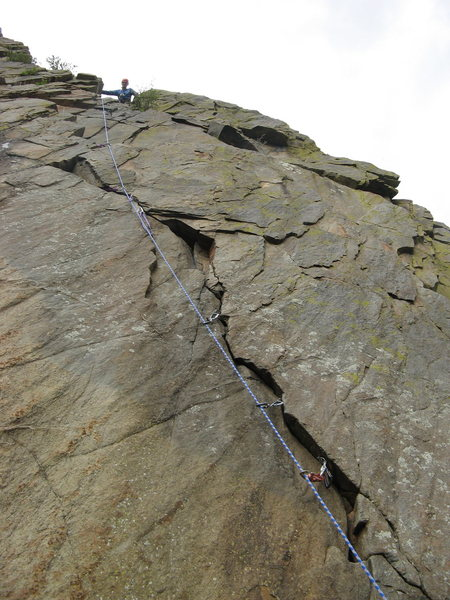 Rock Climbing Photo: Fun climb.  The crux makes you think and good pro ...