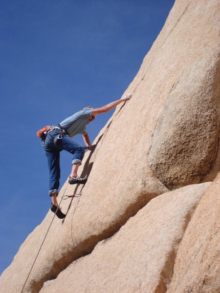 Rock Climbing Photo: Frank Bentwood at the crux.
