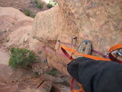 Rock Climbing Photo: Looking down from middle of bolt ladder.