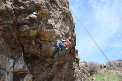 Rock Climbing Photo: Just past the roof - keep going straight up - the ...