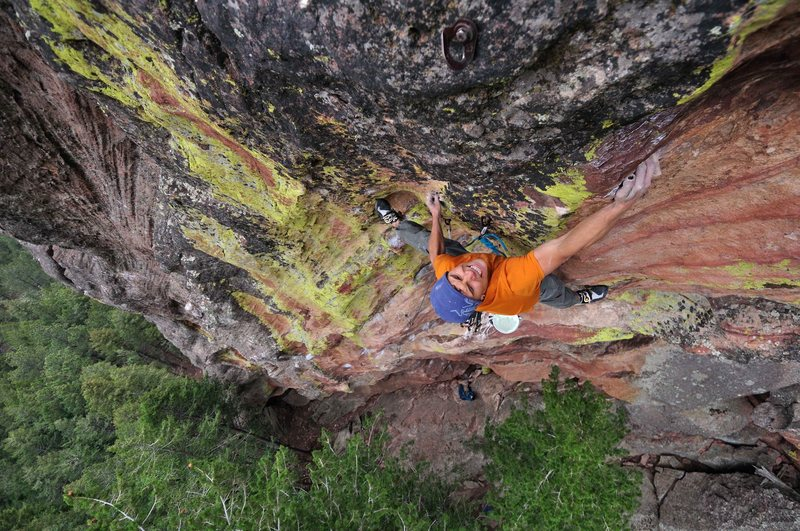 Rock Climbing Photo: Siegrist sending.  Thanks Matt and Ted for another...