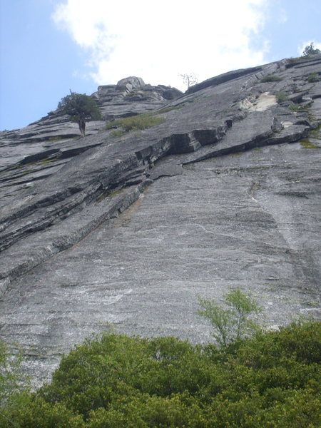 Rock Climbing Photo: All three routes are seen in this photo, including...
