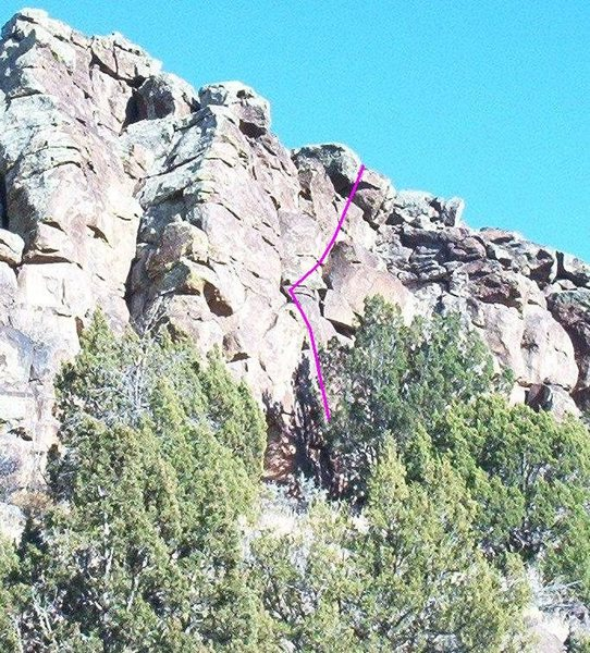 Five Feet and Wine (5.8), Tortilla Flats, White Rock, NM.